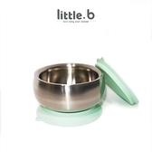 little.b 316 雙層不鏽鋼吸盤碗330ml(小芽綠)[衛立兒生活館]