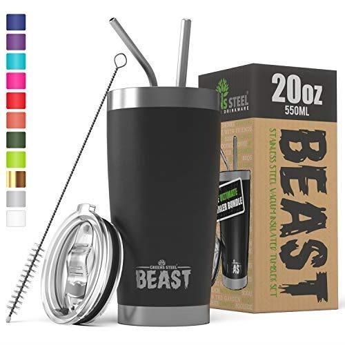 【美國代購】BEAST 20oz不倒翁隔熱不銹鋼咖啡杯(20盎司 啞光黑)