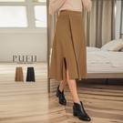 現貨◆PUFII-中長裙 氣質鬆緊腰A字...