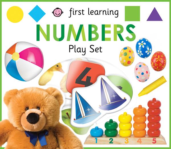 【寶寶拼圖書】FIRST LEARNING  NUMBERS  PLAY SET/12片拼圖+大書 《主題: 數數.生活認知》