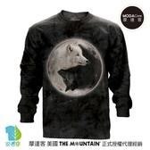摩達客-(預購)美國進口The Mountain 陰陽狼 純棉長袖T恤