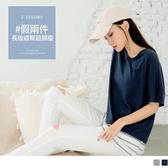 《AB12652-》台灣製造.棉質條紋配色假兩件長版修身上衣 OB嚴選