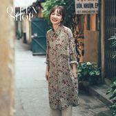 Queen Shop【01023633】滿版碎花長袖雪紡襯衫 兩色售*現+預*