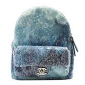 CHANEL 香奈兒 藍色亮片銀鍊後背包 Sequins Waterfall Backpack【二手名牌BRAND OFF】