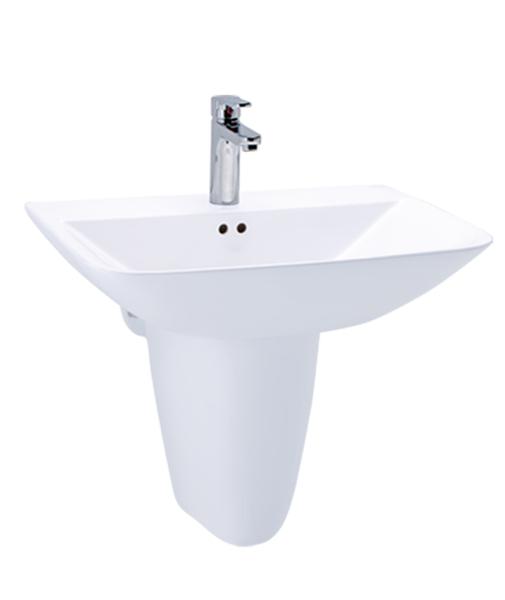 《修易生活館》 凱撒衛浴 CAESAR 單孔面盆 L2365 S 半瓷腳 P2443 (不含龍頭)