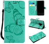 【SZ15】壓紋蝴蝶 三星S9 Plus翻蓋皮套手機殼 Samsung S9 插卡全包保護套