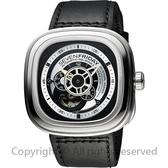 SEVENFRIDAY P1 解構世界自動上鍊機械錶-銀x黑/47mm P1-B