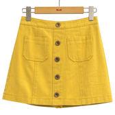 春夏7折[H2O]顯瘦迷你小A字褲裡牛仔裙 - 黃/白/淺藍色 #9682012