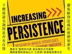 二手書博民逛書店Increasing罕見Persistence: Research-based Strategies for Co