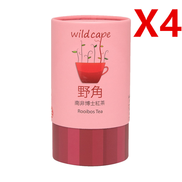 【176237584】四罐特價組-南非國寶Wild Cape Rooibos 野角南非博士(紅茶)(40包/罐)