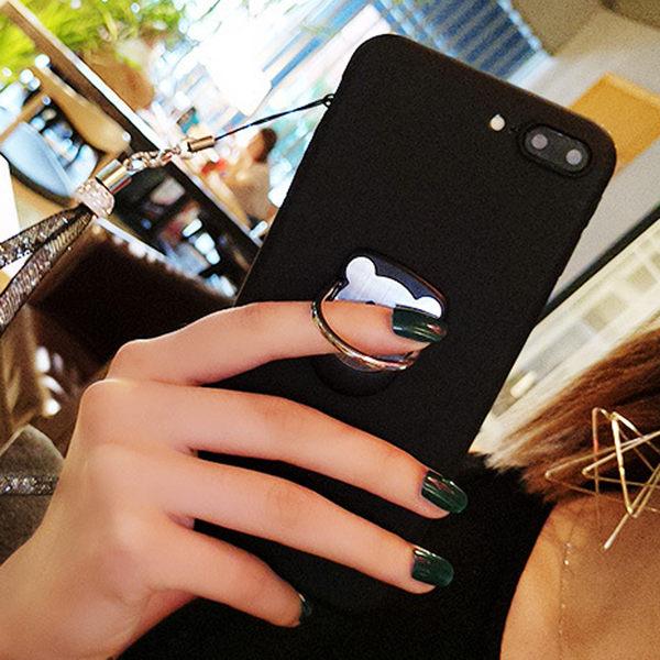 【SZ62】iPhone 7/8 7s Plus 360度磁鐵小熊指環支架 iPhone 6 oppo r9 s6 edge r9s plus note5 指環扣