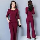 休閒套裝 秋季套裝女2020年新款職業裝減齡顯瘦時髦初秋休閒時尚氣質兩件套 萬圣節