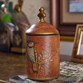 美式創意陶瓷儲物罐擺件家居飾品歐式客廳電視柜酒柜玄關裝飾擺件【奇貨居】