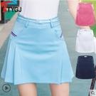 高爾夫春夏季高爾夫裙子韓版運動羽毛網球裙百褶半裙防走光短褲裙 四色可選