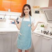 時尚全棉布藝圍裙奶茶店餐廳無袖工作服廚房家居防污防油  圍裙