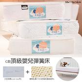 【品樂生活】贈保潔墊 C款頂級嬰兒彈簧床 58x118x14cm EDO 愛多床墊 手工床 台灣製造 草蓆 乳膠床