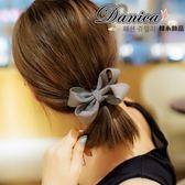 髮束 現貨 韓國時尚氣質甜美浪漫 手作 千鳥格 條紋 蝴蝶結 髮飾(7色) S7562 批發價 Danica 韓系飾品