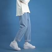 牛仔褲 直筒牛仔褲男裝潮牌寬鬆闊腿帥氣褲子韓版潮流加絨加厚休閒長褲男 芊墨左岸
