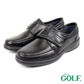 【GOLF】日本4E寬楦手工魔鬼氈羊皮休閒氣墊鞋 黑色(GF2217-BL)