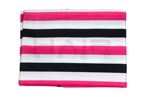 復古三色條紋防靜電圍巾(鈕扣式)【HAiR美髮網】