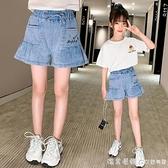 女童夏裝裙褲2021新款韓版洋氣兒童天絲牛仔褲中大童夏季薄款短褲 美眉新品