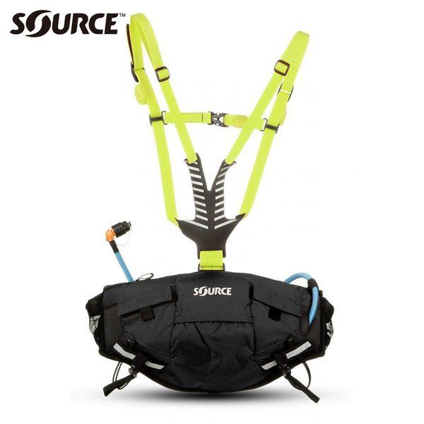 以色列SOURCE 自行車水袋背包Hipster 20527A0015【黑色】1.5L/ 城市綠洲 (自行車.馬拉松.路跑.登山.腰包)
