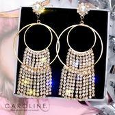 《Caroline》★韓國熱賣造型時尚浪漫風格,Bling  Bling耳環70170