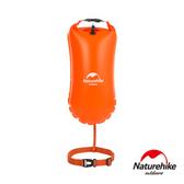 Naturehike 戶外超輕量單氣囊充氣游泳防水袋8.5L 附腰帶橘色