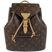Louis Vuitton LV M43431 Montsouris 經典花紋束口翻蓋後背包 全新 現貨【茱麗葉精品】