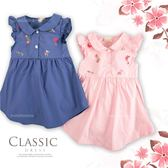 紅粉小花印圖傘狀洋裝(250807)★水娃娃時尚童裝★