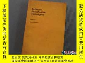 二手書博民逛書店SOFTWARE罕見SPECIFICATION TECHNIQU
