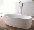 【麗室衛浴】BATHTUB WORLD   流線造型壓克力獨立缸 LS-159  160*80*55cm H-398