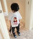 電影鋼鐵人銀標短T 春夏童裝 男童棉T 男童上衣 男童短袖 男童T恤