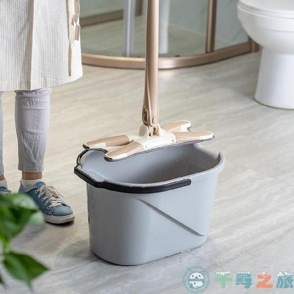 手壓擠水老式洗拖把桶加厚墩布擰水桶家用【千尋之旅】