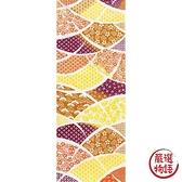 【日本製】【和布華】 日本製 注染拭手巾 紅色 和風扇子花紋圖案 SD-4979 - 和布華