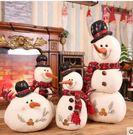 聖誕節雪人公仔布藝泡沫雪人娃娃聖誕擺件裝飾品酒店櫥窗佈置道具