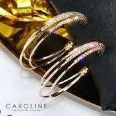 《Caroline》★韓國熱賣造型時尚  水鑽晶透閃亮秀雅 耳環70408