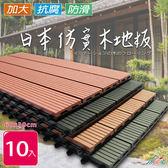 【Incare】日本抗腐仿實木戶外木塑地板60*30(10入)-黑色