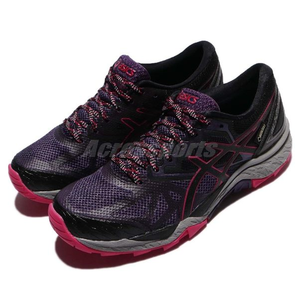 【六折特賣】Asics 慢跑鞋 GEL-FujiTrabuco 6 G-TX 紫 黑 Gore-Tex 戶外 運動鞋 防水 女鞋【PUMP306】 T7F5N3390