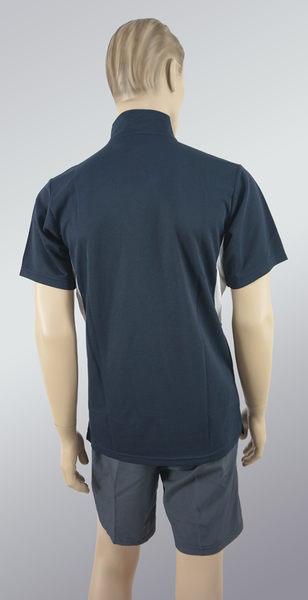 男立領拉鍊涼感POLO衫