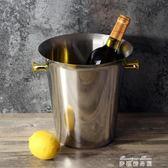 豪華型歐式紅酒冰桶 加厚不銹鋼香檳桶冰鎮桶 家用冰粒桶  麥琪精品屋