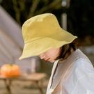 森馬雙面網紅漁夫帽春夏季女大頭圍韓版日繫遮陽帽防曬太陽帽子潮【快速出貨】