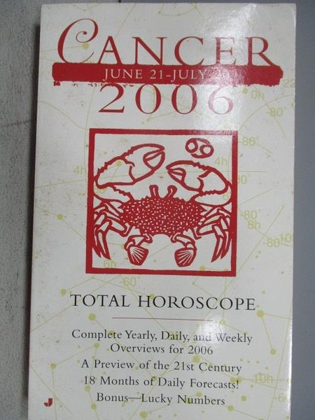 【書寶二手書T2/星相_MKM】Cancer 2006_Total Horoscope