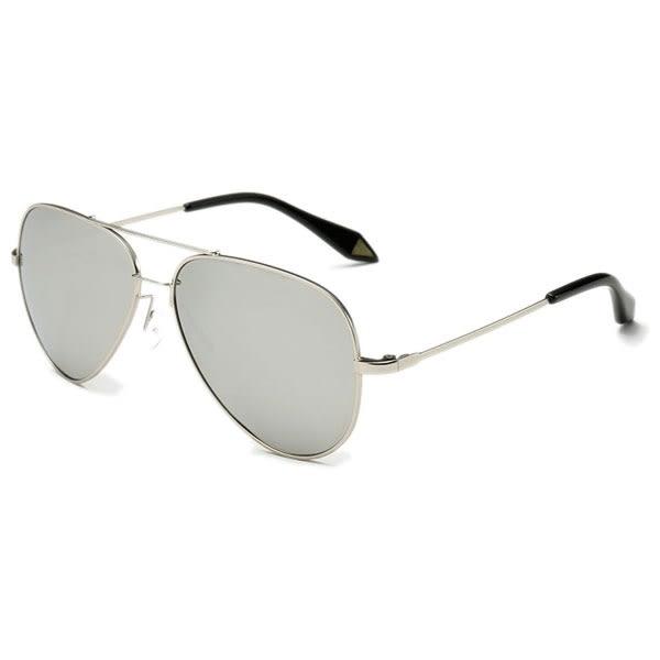 OT SHOP太陽眼鏡‧中大兒童款偏光太陽眼鏡‧帥氣飛官造型‧白/藍/橘紅反光‧現貨‧K04