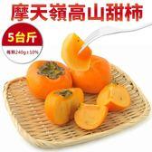 【果之蔬-全省免運】摩天嶺高山8A甜柿X5斤±10%(每顆240g±10%)