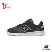 New Balance童鞋 男女童運動鞋 NB童 魔鬼氈跑步鞋 輕量 慢跑鞋 P8499#黑色◆OSOME奧森鞋業