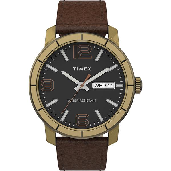 【TIMEX】 天美時 風格系列 經典紳士手錶 (黑/咖啡 TXTW2T72700)