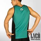 LYCO男背心‧U綠吸排運動背心