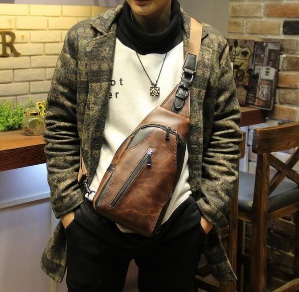 FINDSENSE Z1 韓國 時尚 潮 男 休閒 豎款 胸前斜挎包 單肩包 手