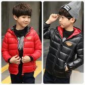 中大童加厚連帽保暖外套 新年紅鋪棉防風男童夾克 FM11810 好娃娃